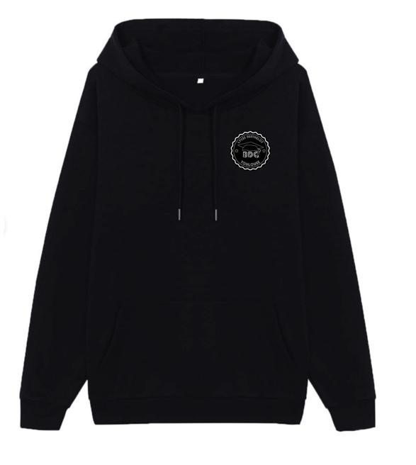 hoodie Noir Logo BDC DOS